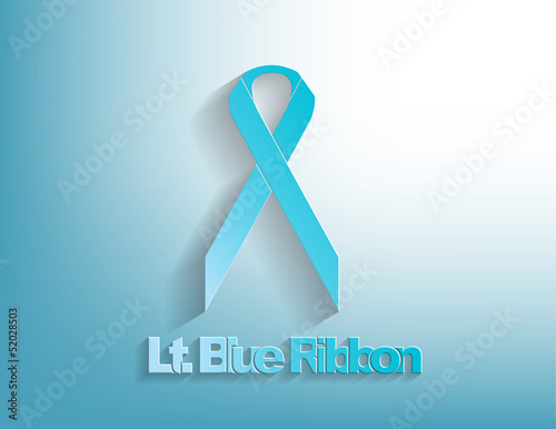 Lt. Blue awareness Ribbon