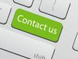 Green contact us keyboard key