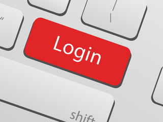 Login keyboard key