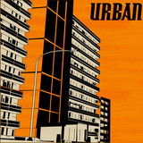 Orange Urban City Street poster