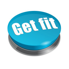 Workout concept - Get fit pushbutton