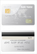detailed glossy silver credit card