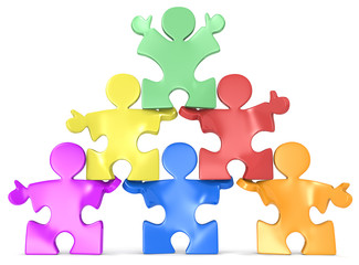 Multicultural Human Pyramid.