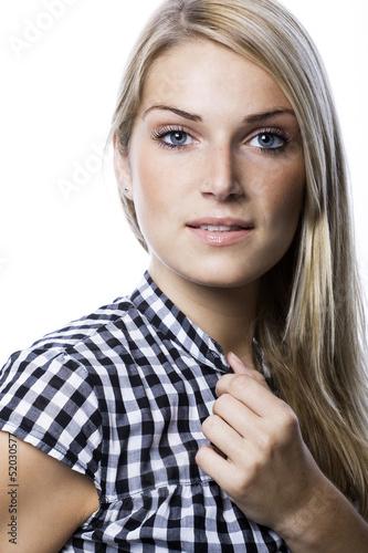 Portrait of a beautiful blond
