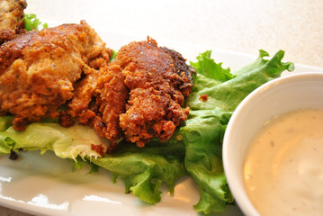 Appetizer Chicken Wings with Creamy Dipping Sauce