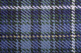 Macro texture of blue plaid