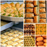 Turkish sweets - baklava, sekerpare- and tulumba
