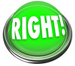 Right Green Button Light Flashing Correct Answer