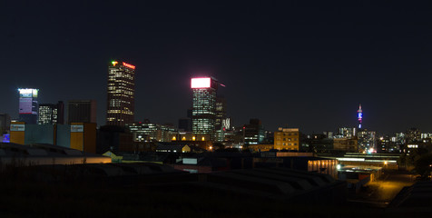Johannesburg City at Night