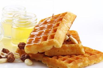 Waffle con miele