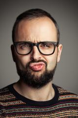 Bearded hiptser