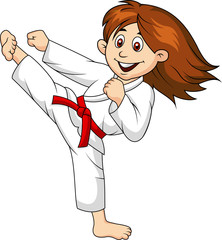 Girl doing martial art