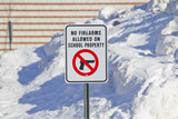 No Firearms Allowed on School Property Sign