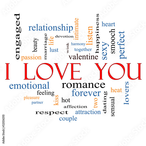 I Love You Word Cloud Concept