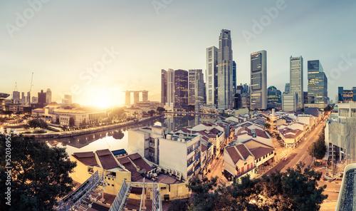 Fotobehang Singapore Singapour skyline