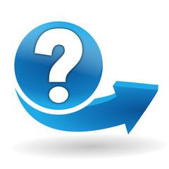 question sur bouton web bleu