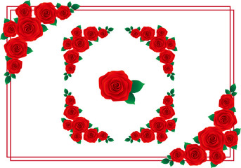 バラ フレーム 赤