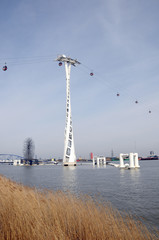 London Cable Car above River Thames