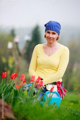 Gardening - woman working in the garden