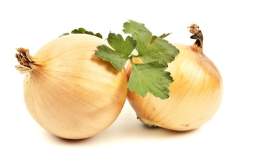 Onion isolated on white background