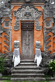 Door - traditional asian Balinese carved