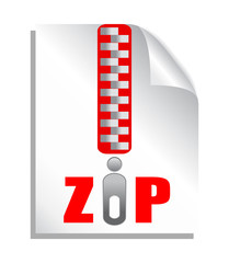 Zip file icon, vector illustration