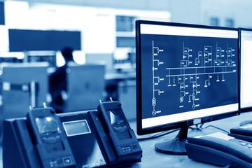 Modern plant control room