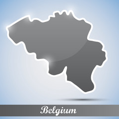 shiny icon in form of Belgium