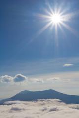 mount top under a sparkle sun