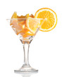 martini glass with orange.