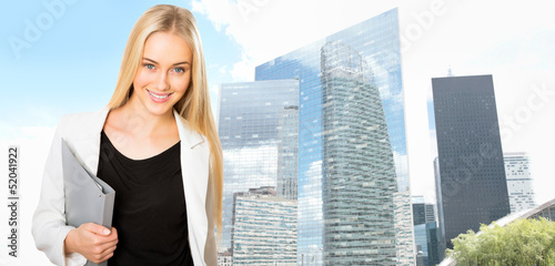 Beautiful young businesswoman