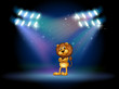 A Lion Standing At The Stage W...