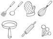Silhouettes of kitchen utensils