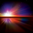 abstract background with sun and stars