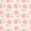 Seamless wallpaper pattern with roses. Flower background
