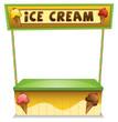 An ice cream stand