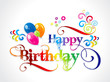 abtract colorful birthday card design