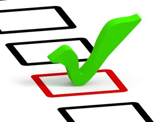 check list symbol, green color