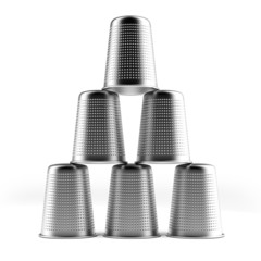 Pyramid of thimbles