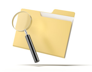 Magnifying Glass inspects a folder