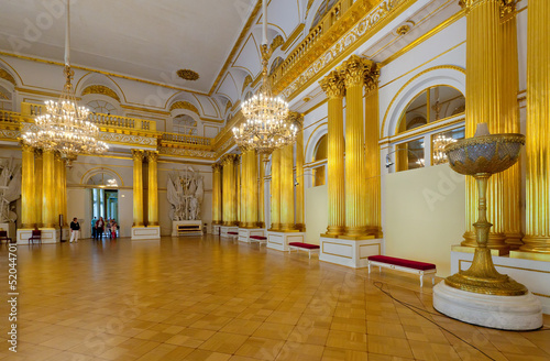 Interior of Winter Palace. Saint Petersburg
