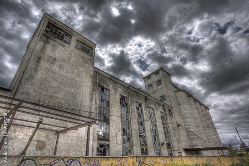 Abandoned flour mill