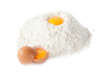 Flour and eggs