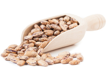 Beans on white background
