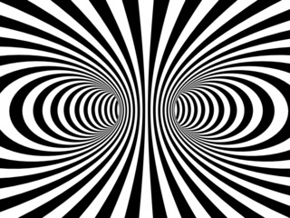 Striped black and white vortex distortion