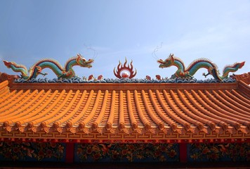 Decorated Chinese Temple Roof