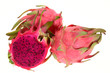 Red Dragon Fruits Isolated On White Background