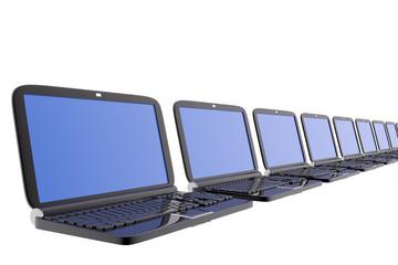 Several laptops
