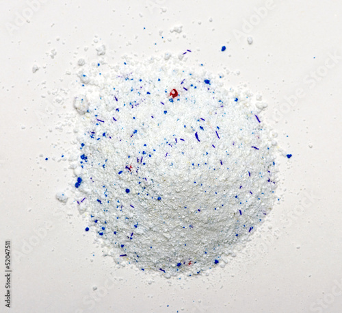 Pile of Washing Powder on white Background