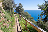 Costa Brava Pathway following the seashore